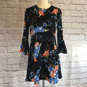 Lulu's Black floral dress size large